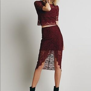 Free People Set Burgundy
